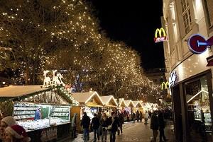 Рождественская ярмарка в Кёльне, Германия