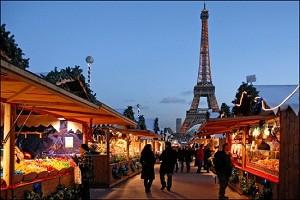 Рождественская ярмарка в Париже, Франция