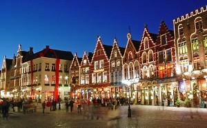 Рождественская ярмарка в Брюгге, Бельгия